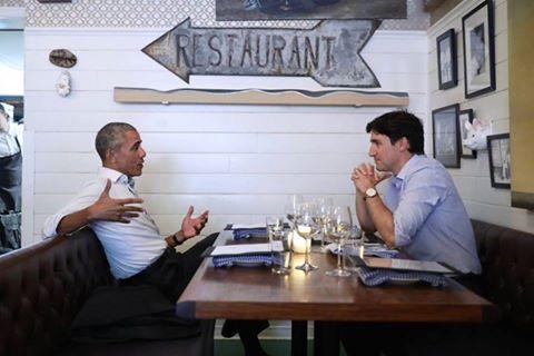 Barack Obama, Justin Trudeau e il nostro Cartacanta